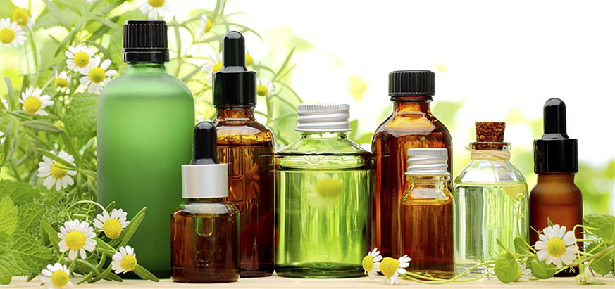 Essential oils for pain relief.