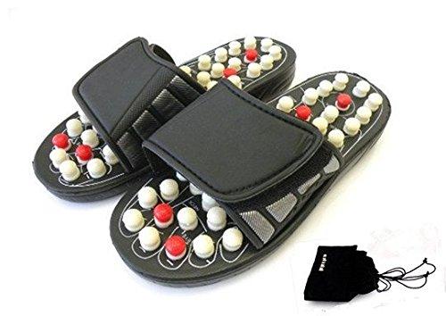 Kkika Sandal Reflex Massage Slippers Acupuncture Foot Healthy Massager Shoe For Man 8-8.5/Women 9-9.5